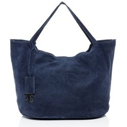 BACCINI tote bag & shoulder bag SELMA -1603- handbag SUEDE leather - blue