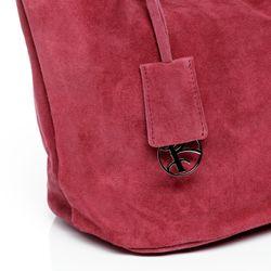 BACCINI Handtasche lange Henkel SELMA Wildleder pink Henkeltasche Handtasche mit langen Henkeln 4
