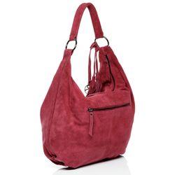 BACCINI Beuteltasche Wildleder pink Hobo Bag Beuteltasche 3