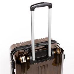 "FERGÉ 2er Kofferset Handgepäck + 24"" CANNES ABS & PC bronze-metallic Trolley-Hartschalenkoffer Set 4 Rollen Kofferset 2-teilig Hartschale 55 cm 2"