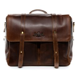 SID & VAIN camera bag SLR HEATHROW -1716- camera case with adjustable interior compartments PULL-UP leather - brown-cognac