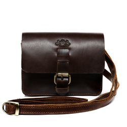 SID & VAIN hip-bag HEATHROW  belt-bag S brown Natural Leather leather hip-bag