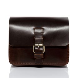 SID & VAIN hip-bag HEATHROW -1721- belt-bag PULL-UP leather - brown-cognac