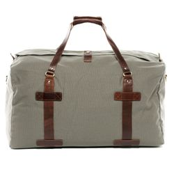 SID & VAIN travel bag CHASE -1551- weekender CANVAS-PULL-UP leather - grey-brown