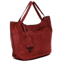 top-handle tote bag SELMA Suede Leather 3