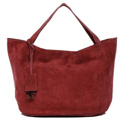 BACCINI tote bag & shoulder bag SELMA -1603- handbag SUEDE leather - bordeaux