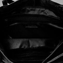 BACCINI Handtasche lange Henkel SELMA Wildleder schwarz Henkeltasche Handtasche mit langen Henkeln 4