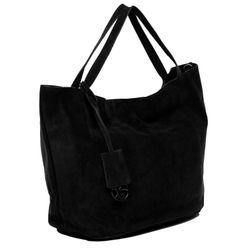 BACCINI Handtasche lange Henkel SELMA Wildleder schwarz Henkeltasche Handtasche mit langen Henkeln 2