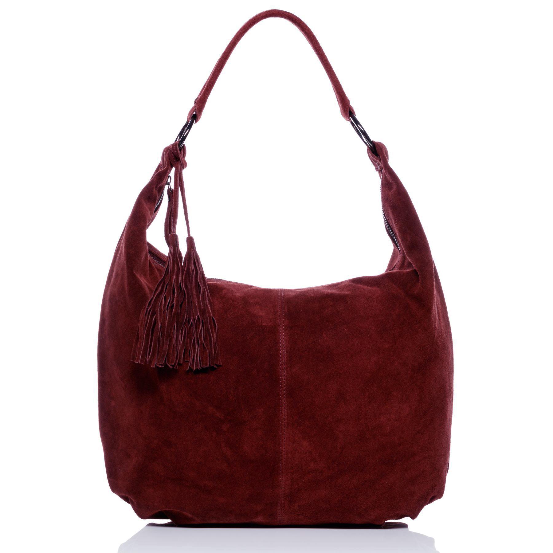 bd43fb3c9176 hobo bag SELINA Suede Leather