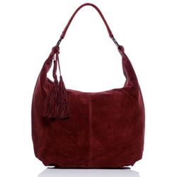 BACCINI Hobo Bag SELINA Wildleder bordeauxrot Hobo Bag Beuteltasche 1