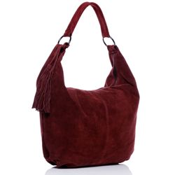 BACCINI Hobo Bag SELINA Wildleder bordeauxrot Hobo Bag Beuteltasche 2