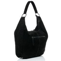 BACCINI Beuteltasche Wildleder schwarz Hobo Bag Beuteltasche 2