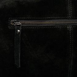 BACCINI Beuteltasche Wildleder schwarz Hobo Bag Beuteltasche 4