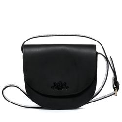 SID & VAIN shoulder bag TRISH -923- handbag SADDLE leather - black