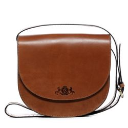SID & VAIN shoulder bag TRISH -928- handbag SADDLE leather - tan-cognac