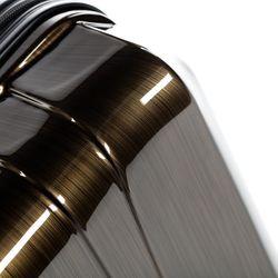 FERGÉ Handgepäck 55 cm Hartschale bronze-metallic Reisekoffer Kabinentrolley 4 Rollen 360° Handgepäck-Koffer Hartschale 55 cm 3