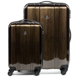 luggage set 2 pcs Hard-case (Carry-On & L) Dijon Polycarbonate