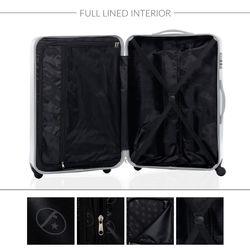 FERGÉ Kofferset 2-teilig 55 + 65 cm Hartschale silber Trolley-Hartschalenkoffer Set 4 Rollen 360° Kofferset 2-teilig Hartschale 55 cm 66 cm 4