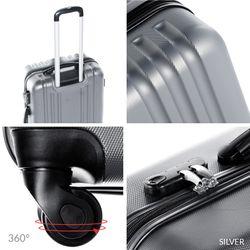FERGÉ Kofferset 2-teilig 55 + 65 cm Hartschale silber Trolley-Hartschalenkoffer Set 4 Rollen 360° Kofferset 2-teilig Hartschale 55 cm 66 cm 5