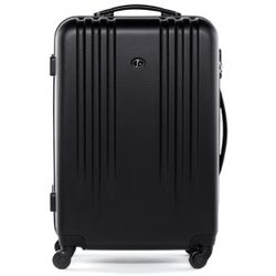 FERGÉ two luggage set Marseille -XB-06- 2 suitcase hard-top cases ABS - black