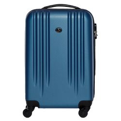 FERGÉ carry-on trolley Marseille -XB-06-20- suitcase hard-top case ABS - royal-blue
