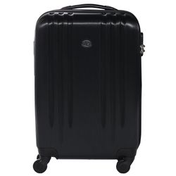 FERGÉ carry-on trolley Marseille -XB-06-20- suitcase hard-top case ABS - black