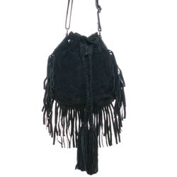 BACCINI shoulder bag SANDRA -1618- handbag SUEDE leather - black