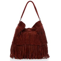 BACCINI Hobo Bag SAMIRA Wildleder bordeauxrot Hobo Bag Beuteltasche