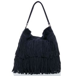 BACCINI hobo bag SAMIRA -1620- shoulder bag SUEDE leather - blue