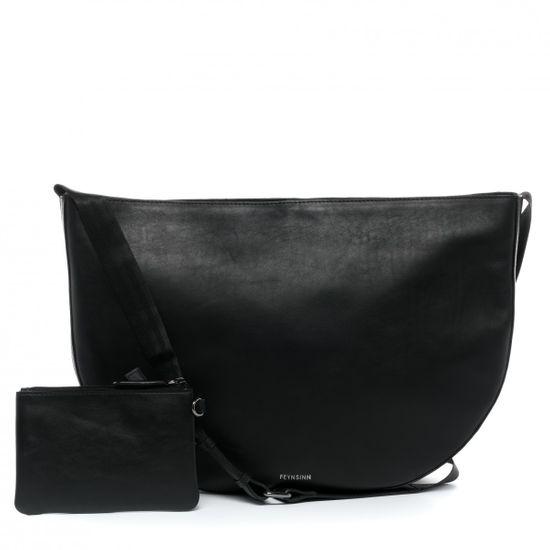 taschen/damentaschen/feynsinn-schultertasche-ilvy-umhaengetasche-m-leder-schwarz-handtasche