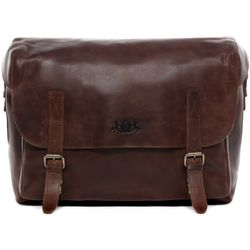 SID & VAIN Aktentasche ETON Bürotasche Laptoptasche XL vegetabiles Leder Aktentasche Messenger Businesstasche