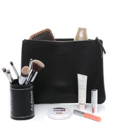 BACCINI Leer Make-up tas zwart Make-up tas MEL