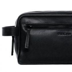 FEYNSINN Kulturtasche FRIIS Premium Smooth schwarz Kulturbeutel Kulturtasche 3