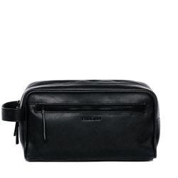 FEYNSINN Kulturtasche FRIIS Premium Smooth schwarz Kulturbeutel Kulturtasche