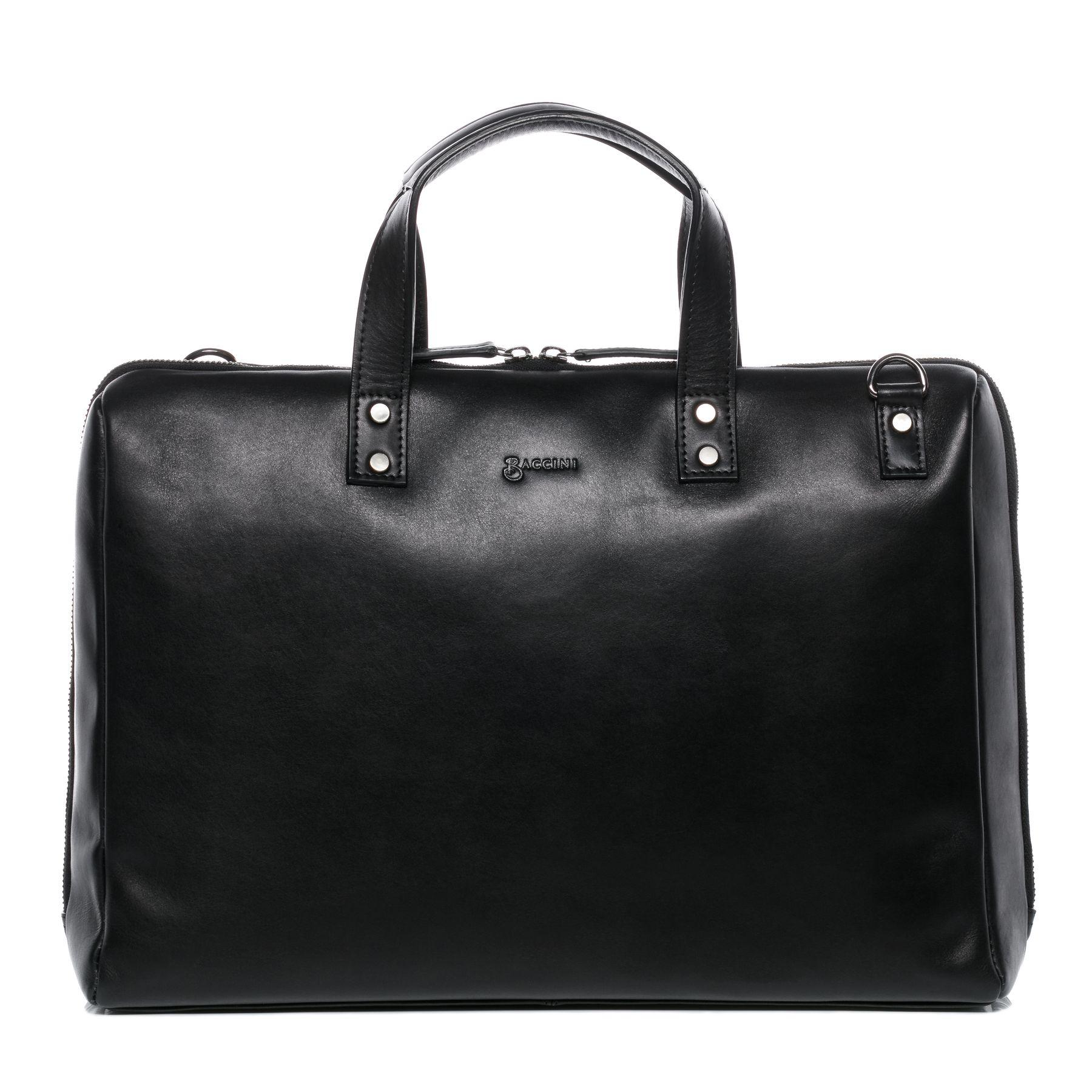 f9f88fe587 BACCINI sac pour ordinateur portable cuir noir cartable messager sac  travail sacoche bandoulière ordi Travail