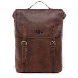 SID & VAIN Rucksack Natur-Leder braun-cognac Backpack Tagesrucksack Kurierrucksack Fahrradrucksack Rucksack