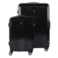FERGÉ Kofferset 3-teilig CANNES Trolley-Koffer Hartschale leicht 3 Größen ABS Dure-Flex Koffer-Set Leicht 3er Hartschalenkoffer Set (M L XL ) 4 Zwillingsrollen (360°) 3