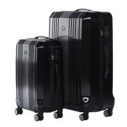 FERGÉ Kofferset 3-teilig CANNES Trolley-Koffer Hartschale leicht 3 Größen ABS Dure-Flex Koffer-Set Leicht 3er Hartschalenkoffer Set (M L XL ) 4 Zwillingsrollen (360°) 4
