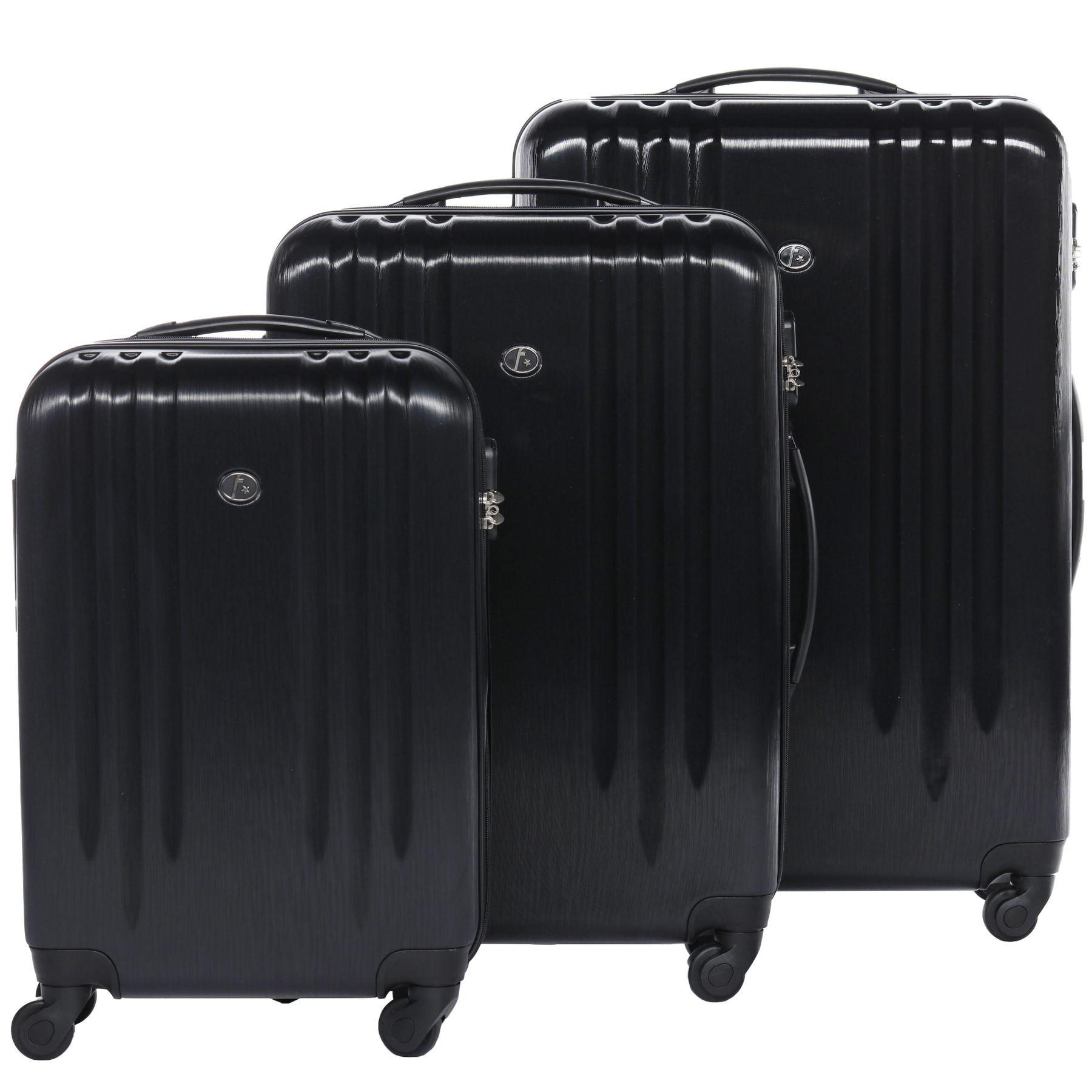 ferg rollkoffer reise koffer set 55 cm 65 cm 77 cm abs. Black Bedroom Furniture Sets. Home Design Ideas