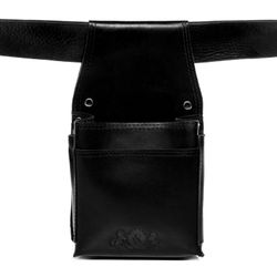 SID & VAIN waitress holster ABERDEEN -1726- waitress belt holder SMOOTH leather - black