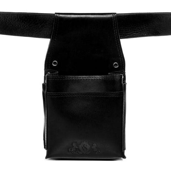 SID & VAIN Kellnerholster ABERDEEN Premium Smooth schwarz Kellnertasche Kellnerholster