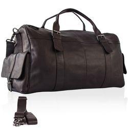 FEYNSINN Reisetasche ASHTON Weekender XL Glattleder Reisetasche Weekender Sporttasche groß 4