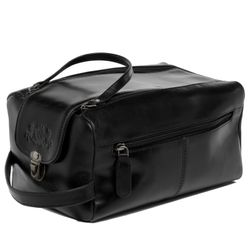 SID & VAIN washbag BRISTOL -1508- travel necessaire SMOOTH leather - black