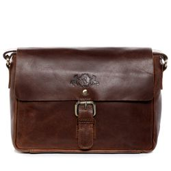 SID & VAIN shoulder bag YALE -1704- handbag PULL-UP leather - brown-cognac
