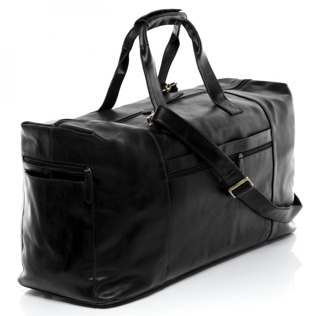 86d08c74d4 SID   VAIN weekender BRISTOL - XL - black duffle bag - premium handmade genuine  leather travel bag men Colour  Dark Blue New