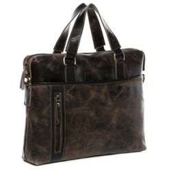 BACCINI Laptoptasche LEANDRO Distressed Vintage Distressed-Braun Businesstasche Laptoptasche 2