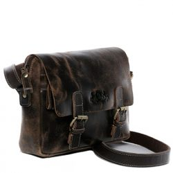 SID & VAIN Omhangtas Leer Messenger bag bruin Messenger bag YALE   3