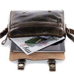 SID & VAIN Omhangtas Leer Messenger bag bruin Messenger bag YALE   4