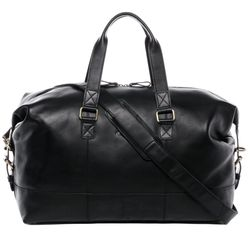 SID & VAIN travel bag YALE -1709- weekender SMOOTH leather - black
