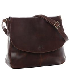 BACCINI shoulder bag BIANCA -1927- handbag PULL-UP leather - brown-cognac